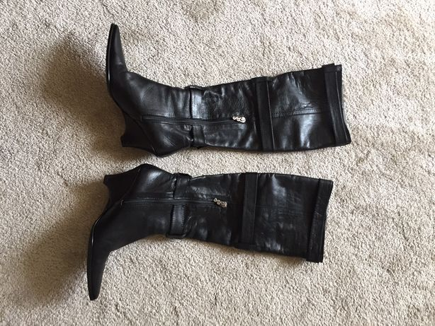 Botas pele preta PAULA SALGADO tamanho 35