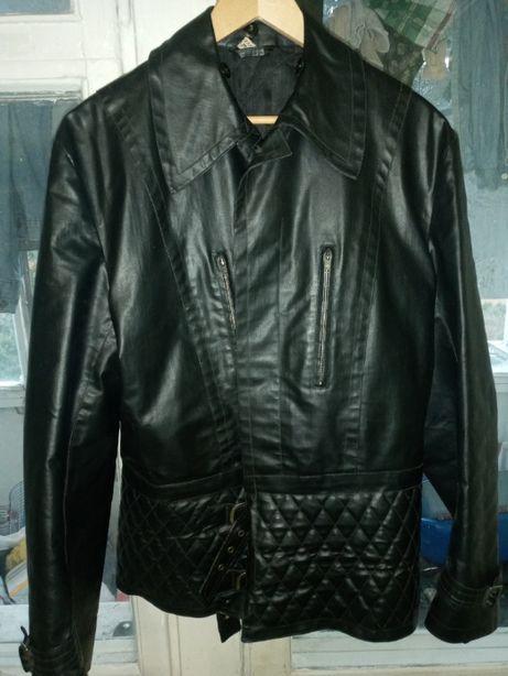 Кожаная Немецкая куртка косуха для байкеров и рокеров