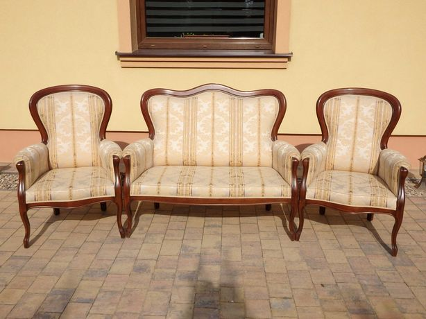 Kanapa +dwa fotele sofa  ludwik stylowe