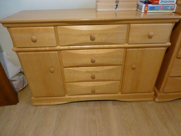 Meble dziecięce drewniane Buk łóżko / łóżeczko w zależności od wieku