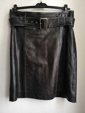 Spódnica skóra czarna 40 L