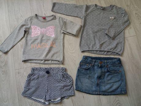 Paka ubrania 110 dla dziewczynki. H&M OUT Zara. Spodenki sweter