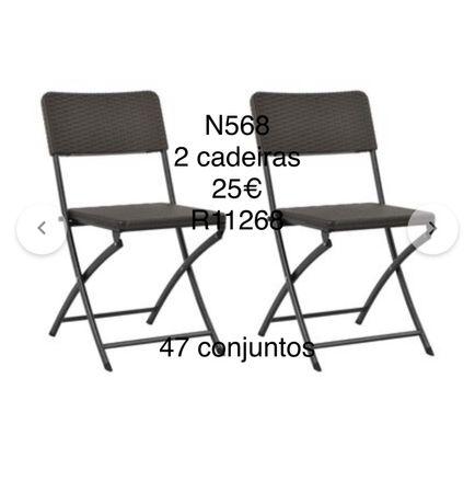 Lote de cadeiras para lardim em liquidacao total