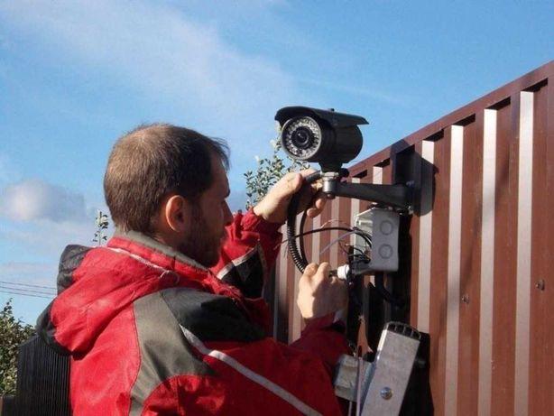 Установка відеоспостереження сигналізацій ip камер Гарантія