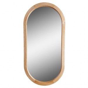 Зеркало в деревянной отделке