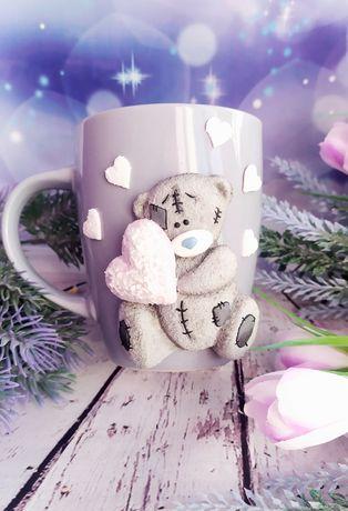 Чашка Мишки Тедди полимерная глина подарок