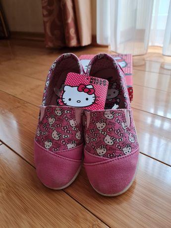 Мокасінчики текстильні Hello Kitty