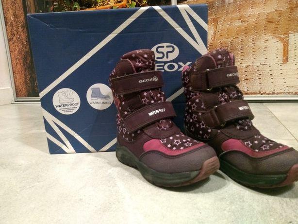 Geox śniegowce 25 wodoodporne wyskokie zimowe kozaki buty dziewczynka
