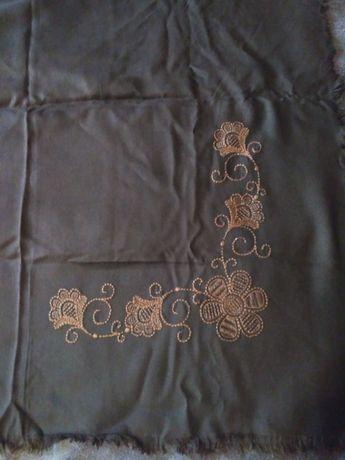 платок винтажный ссср темно коричневый старинный