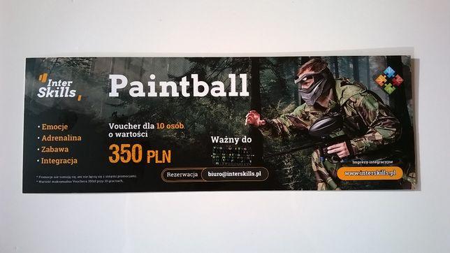 Paintball voucher - 10 osób x 3h ( ze wszystkim ) ważny 31.12.2021