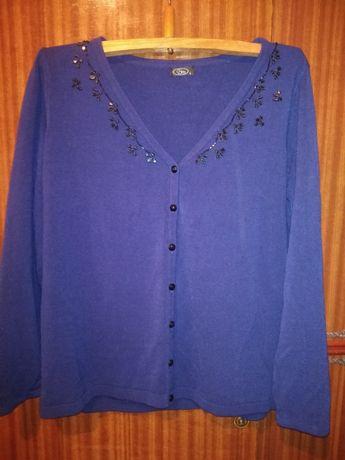 Джемпер пуловер кофта на пуговицах со стразами