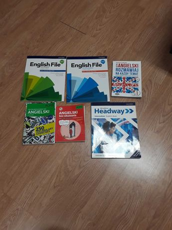 angielski English File plus inne książki