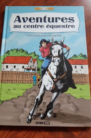 Po francusku. AVENTURES au centre equestre. Komiks