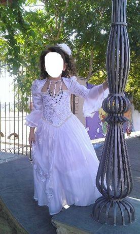 Красивое бальное нарядное выпускное платье на 4-8 лет, утренник, сукня