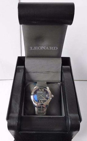 Leonard relógio automático novo com caixa