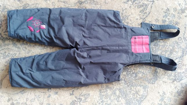 Grube spodnie zimowe narciarskie bardzo ciepłe 98