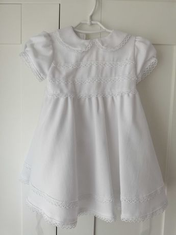 Sukienka sukieneczka na chrzest 68 cm, krótki rękaw