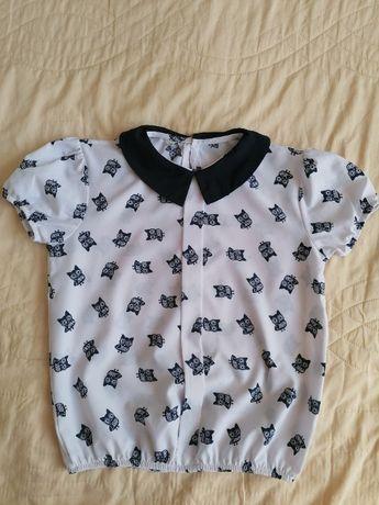 Блузка с коротким рукавом для девочки, р. 140