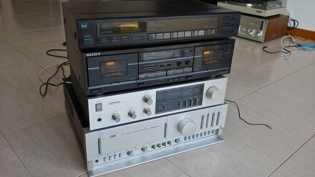 Vendo aparelhagem.amplificador,tuner,deck. JVC Pioneer Sony Dual HI-FI