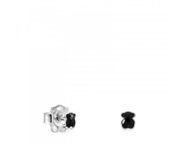 Tous kolczyki Mini Onix srebro 925 onyks