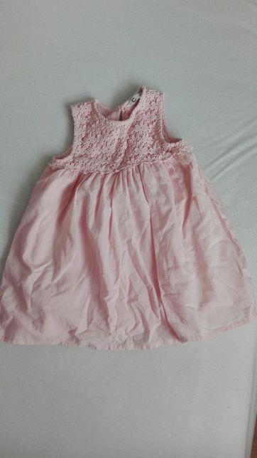 Elegancka różowa sukienka rozm. 86