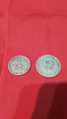 Moneta 5zł moneta 2zł bez znaku mennicy Prl