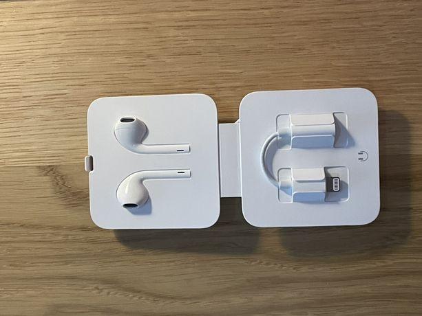 Słuchawki Apple Earpods iPhone Nowe plus przejsciowka