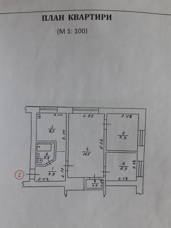 Продаю свою затишну 3 к. квартиру 43 кв.м., пл.Свободи 35, в центре
