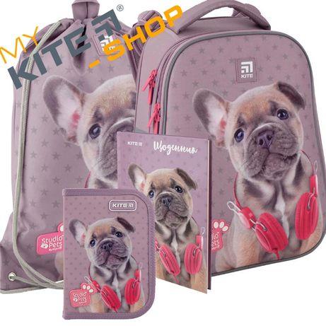 Школьный комплект KITE 4в1 Рюкзак Сумка Пенал Для девочки Кайт