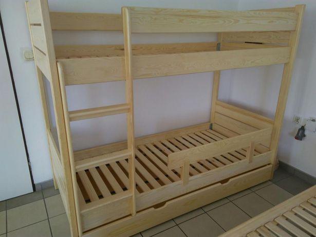 Łóżko piętrowe 90x200 solidne drewno