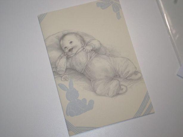 karta okolicznościowa chrzest chłopiec