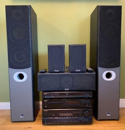 Zestaw Audio-Video ONKYO DX-SR505E + M-AUDIO HTS-700 90W
