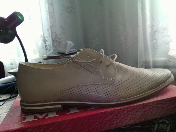 Продам туфли мужские кожаные