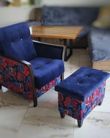 """Sprzedam fotel z pufką komplet """"Relaks full opcja"""" :)"""