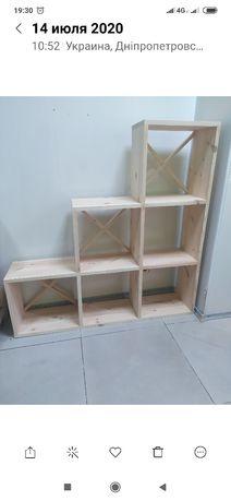 Стеллаж этажерка полка деревянная полочка вешалка шкаф комод