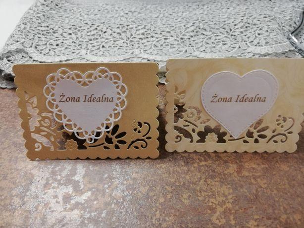 Winetki na stół weselny