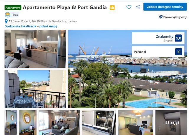 Apartament w Playa de Gandia (Hiszpania) do wynajęcia. !!!