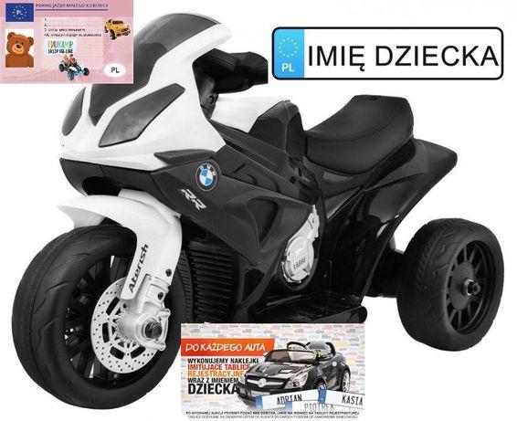 Pojazd na akumulator MOTOR BMW S1000RR ecoskóra jeździk BMW