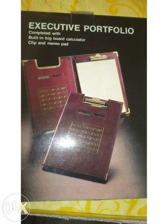 Note book dos antigos - Folhas e calculadora solar