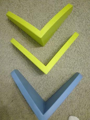 Półka wisząca zielona i niebieska 3 szt.