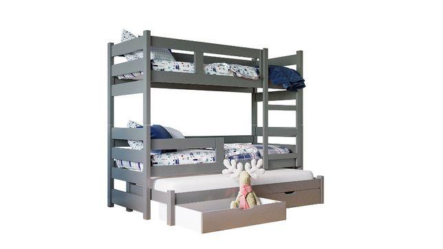 Łóżko piętrowe NOEMI 3 z wysuwanym spaniem. MATERACE GRATIS