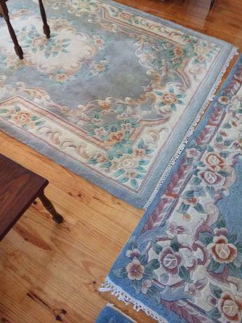 3 carpetes desenho japonesa  flor de lótus forrada a seda