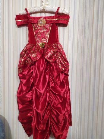Карнавальное платье Принцессы Бель Дисней красавица и чудовище красное