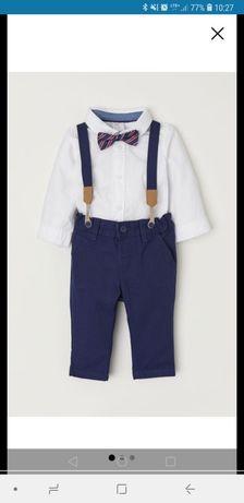 Komplet dla chłopca koszula spodnie+gratis