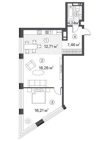 ЖК TERRACOTTA, Чернігівська, 8, видова 2-х кімнатна квартира!