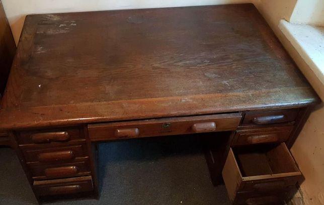Przedwojenne biurko zabytkowe