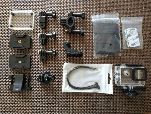 Zestaw nowych akcesoriów do kamer sportowych tanio sprzedam.