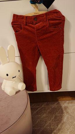 Next 92 spodnie sztruksowe ceglane