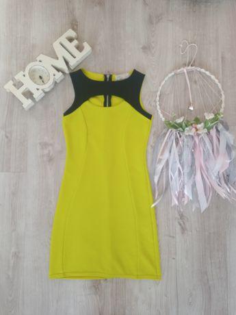 Sukienka limonkowa xs/s