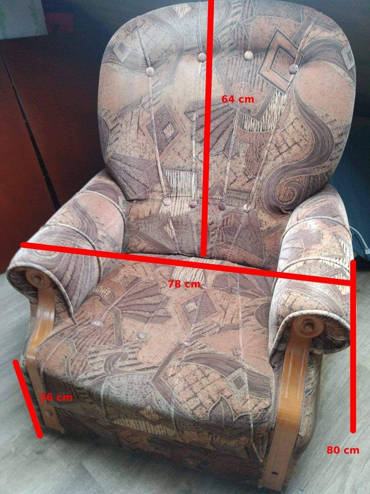 Fotel 2x,  pufa 2x